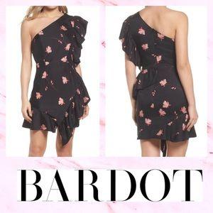 😍🌸Bardot Floral Lucia Frill One-Shoulder Dress